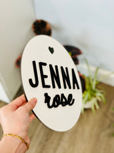 Load image into Gallery viewer, Personalized Circle Name Plank Sign (Version 2)