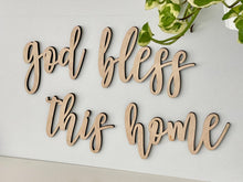 Load image into Gallery viewer, God Bless This Home Sign