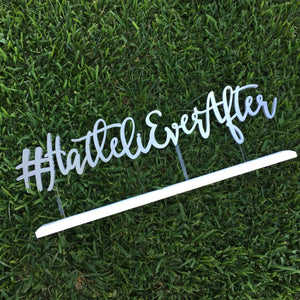 "Personalized Hashtag Sign, 24""W"