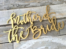 Load image into Gallery viewer, Father of the Groom, Father of the Bride, Mother of the Groom, & Mother of the Bride Chair Signs