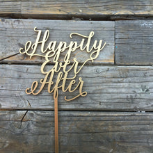 "Load image into Gallery viewer, Happily Ever After Cake Topper, 6.5""W"