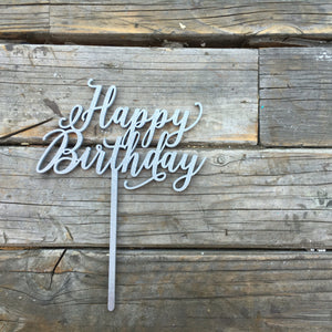 "Happy Birthday Cake Topper, 6""W"
