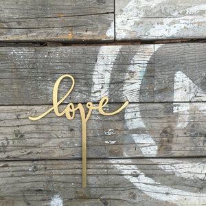 "Love Cake Topper, 5""W (Version 1)"
