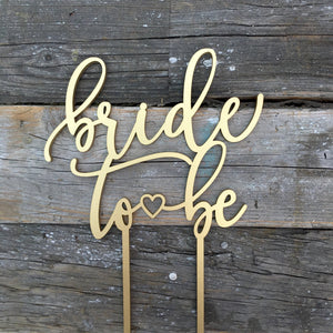 "Bride to Be Cake Topper, 6""W"