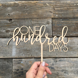 "One Hundred Days Cake Topper, 8""W"