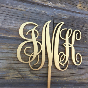 "Monogram Cake Topper, 5""W (Traditional)"