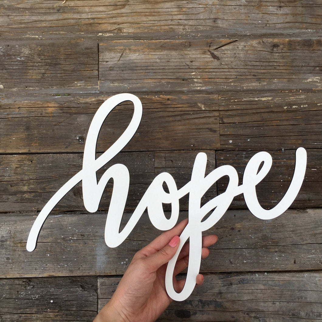 Hope Sign, 13
