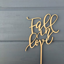 "Load image into Gallery viewer, Fall in Love Cake Topper 5""W"