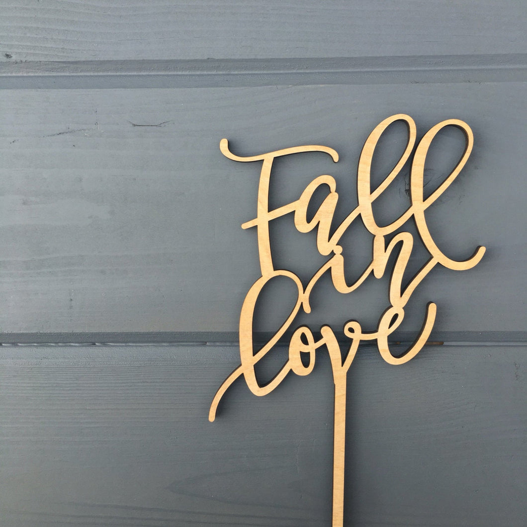 Fall in Love Cake Topper 5