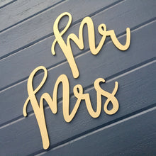 Load image into Gallery viewer, Mr and Mrs Chair Signs