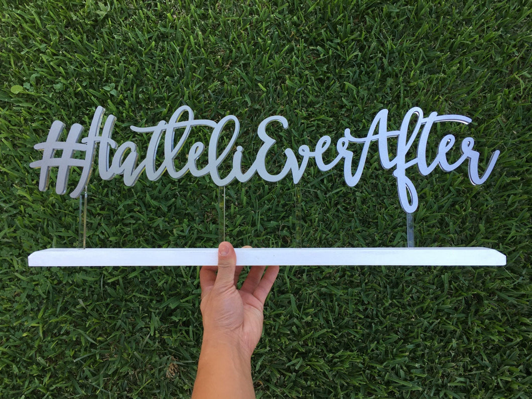 Personalized Hashtag Sign, 24