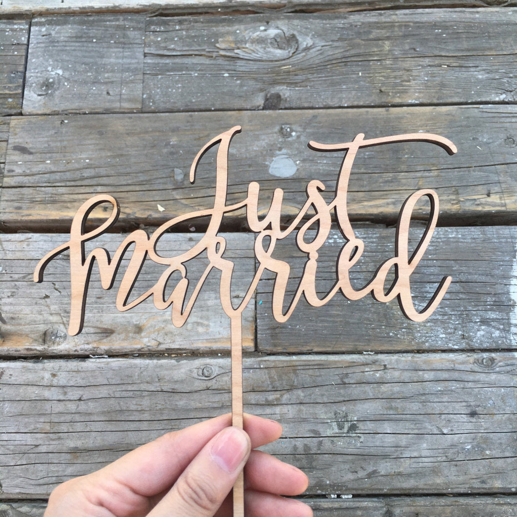 Just Married Cake Topper, 6.5