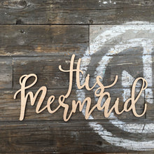 Load image into Gallery viewer, His Mermaid & Her Captain Chair Signs