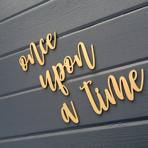 "Once Upon a Time Sign, 30"" Total Span"