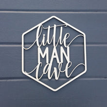 "Load image into Gallery viewer, Little Man Cave Sign, 9.25""W x 11""H"