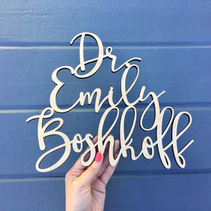 "Personalized Office Door Sign, 13""W"