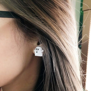 Ghost Earrings, White