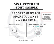 Load image into Gallery viewer, Personalized Oval Keychain