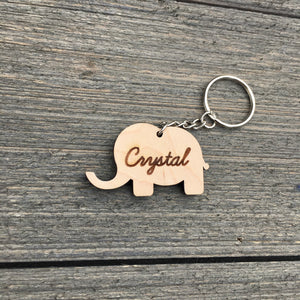 Personalized Elephant Keychain