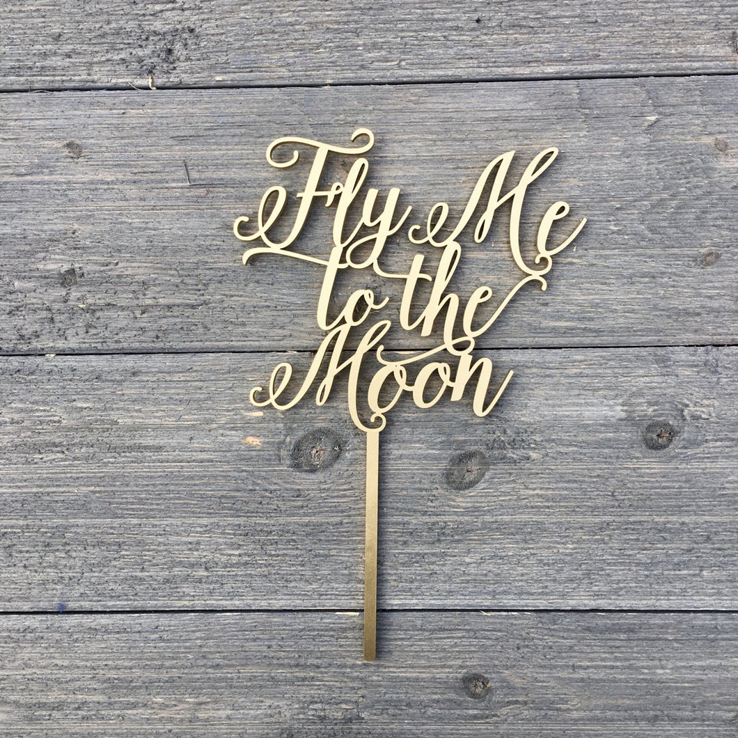Fly Me to the Moon Cake Topper, 6