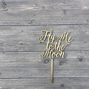 "Fly Me to the Moon Cake Topper, 6""W"