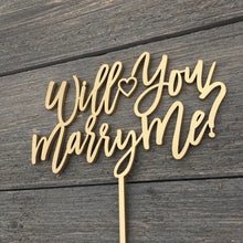 "Load image into Gallery viewer, Will You Marry Me Cake Topper, 6.5""W"