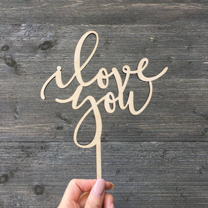 I love you And I like you Cake Topper (2 Pieces)