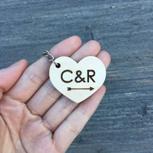 Load image into Gallery viewer, Personalized Heart Keychain