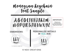 Load image into Gallery viewer, Personalized Monogram Keychain