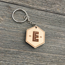 Load image into Gallery viewer, Initial Wood Keychain