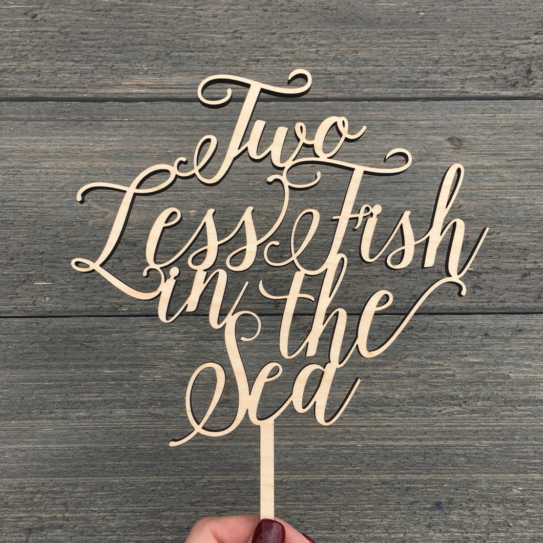 Two Less Fish in the Sea Cake Topper, 6.5