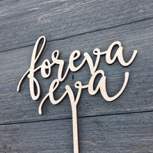 "Load image into Gallery viewer, Foreva Eva Cake Topper, 6.5""W (Version 1)"