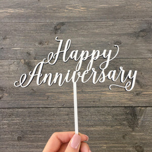 "Happy Anniversary Cake Topper, 7""W"