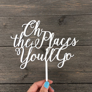 "Oh the Places You'll Go Cake Topper, 7""W"