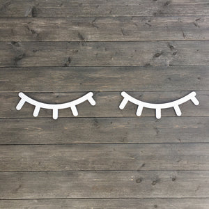 "Eyelashes Sign, 14""W"