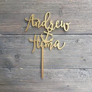 "Personalized Name Anchor Name Cake Topper, 6""W"