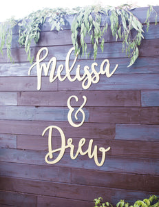 Personalized Signs for 2 Names