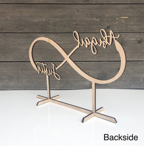 "Personalized Infinity Table Top Name Sign, 14""x9"""