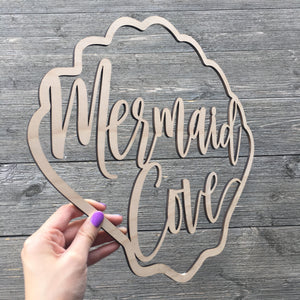 "Mermaid Cove Sign, 14""x12.75"""