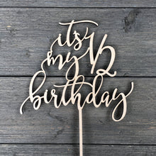 "Load image into Gallery viewer, It's My Half Birthday Cake Topper 7""W"