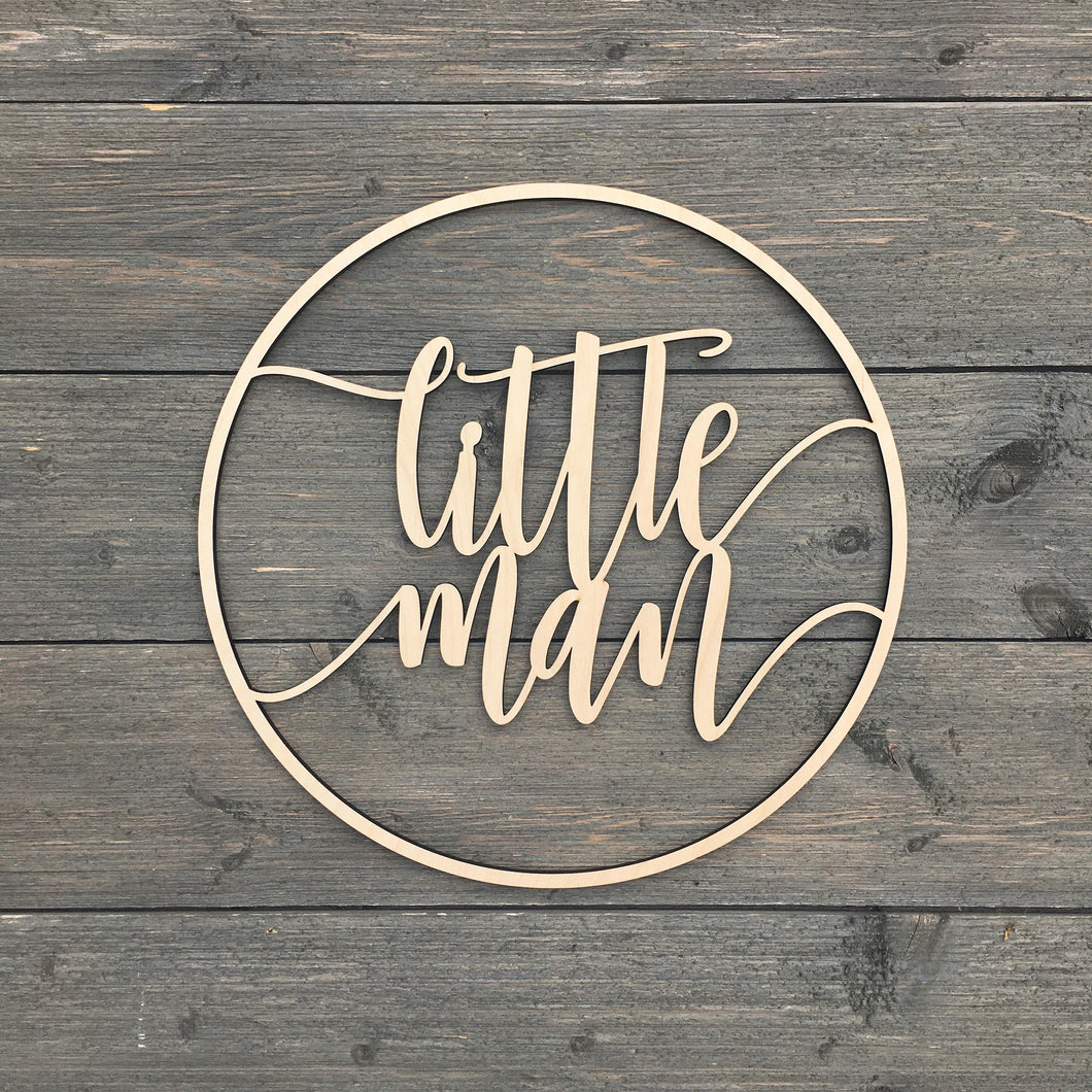 Little Man Circle Sign, 12