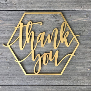 "Thank You Sign, 14""x12"""