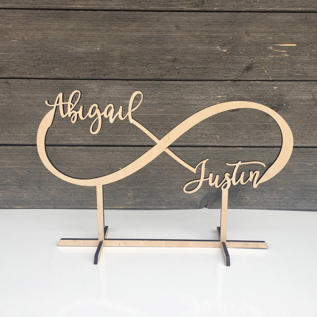 Personalized Infinity Table Top Name Sign, 14