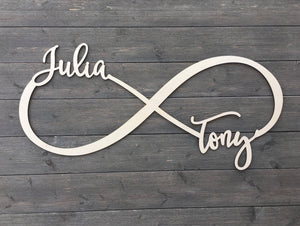 Personalized Infinity Name Sign