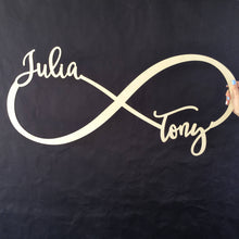 Load image into Gallery viewer, Personalized Infinity Name Sign