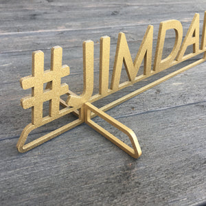 Personalized Hashtag Sign (Print Font)