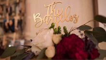 "Load image into Gallery viewer, Personalized The Last Name Cake Topper, 6""W"