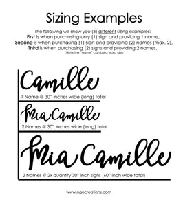 Personalized Name Sign (Font 1)
