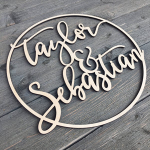 Personalized Circle Name Sign