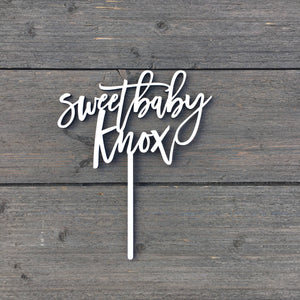 "Personalized Sweet Baby Name Cake Topper, 6""W"